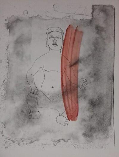 Rufino Tamayo, 'Figuea Cultura Olmeca', 1976