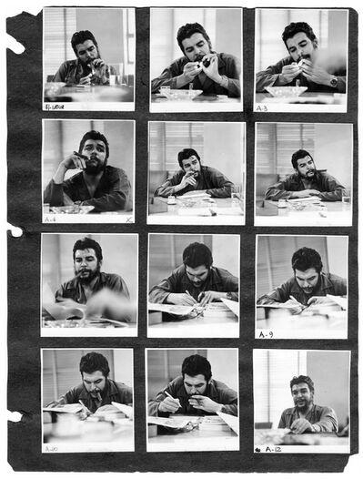 Rodrigo Moya, 'Hoja de Contactos del las tomas al Che Guevara', 1964