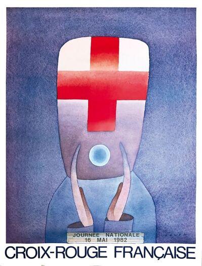 """Jean Michel Folon, 'Lotto di quattro manifesti: """"31eme Festival du Télévision, Monte Carlo 1991""""; """"Stalker, un film de Andrej Tarkovskji""""; """"Croix-rouge française, journée nationale, 1982""""; """"Jour du soleil, 1979""""', 1979-1991"""