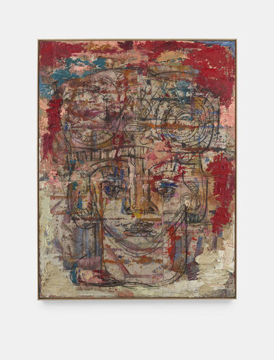 Daniel Crews-Chubb, 'Head with Serpents and Drummer (red)', 2020
