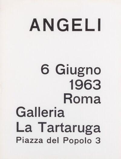 Franco Angeli, 'Angeli', 1963