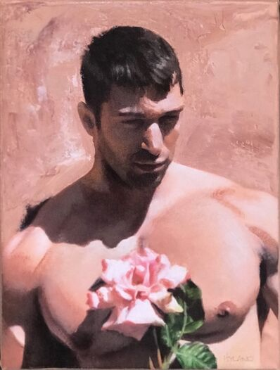 John Hyland, 'The Sculpture Garden (He Wears the Rose of Youth Upon Him)', 2021