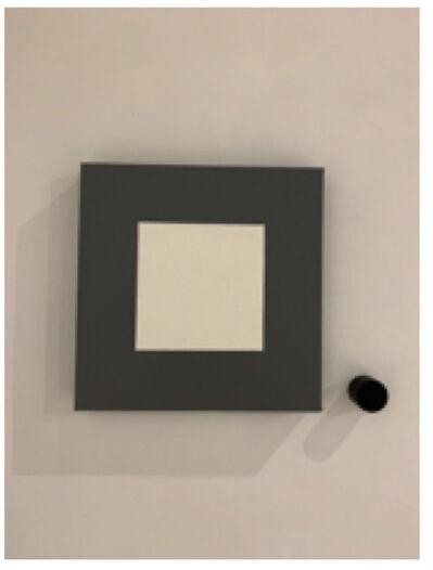 Horacio Zabala, 'Monocromo blanco sobre gris', 2016