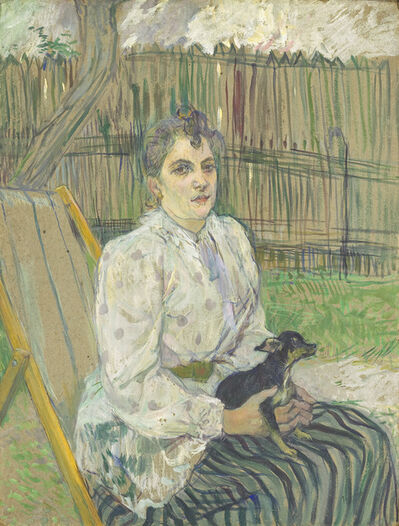 Henri de Toulouse-Lautrec, 'Lady with a Dog', 1891