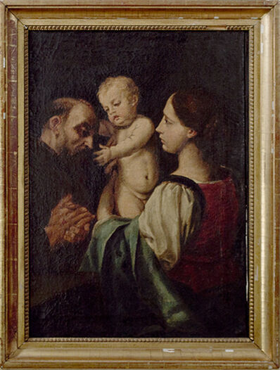 Unknown Artist, 'The Madonna and Child with Saint Francis After a Painting attributed to Simone Cantarini (Italian 1612-1648)', 1925