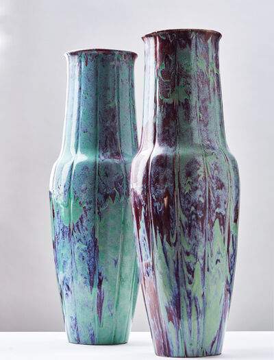 Ernest Chaplet, 'Pair of Monumental Vases', ca. 1900
