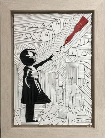 Finn Stone, 'Girl with Red Brush', 2019