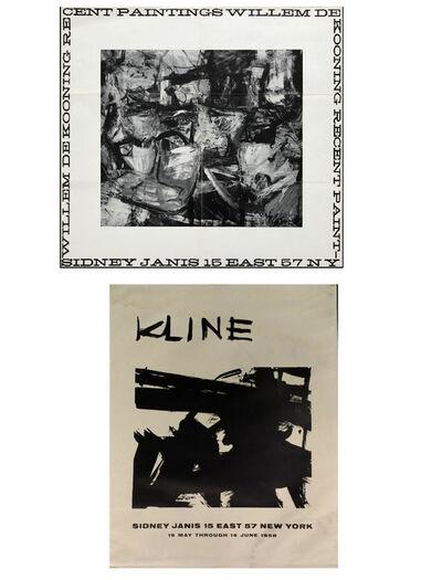 Willem de Kooning, 'TWO PIECE SET- Sidney Janis Gallery Exhibition Invitations- Willem De Kooning 1956 & Franz Kline 1958.', 1956 & 1958