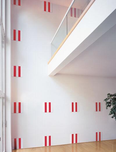 Daniel Buren, '25 Enamel Plates, from Wall Works', 1993