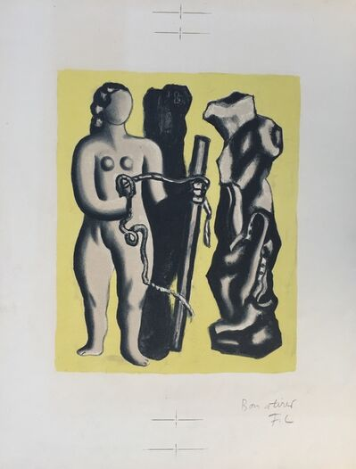 Fernand Léger, 'Femme sur fond jaune (Woman on yellow background)', 1952