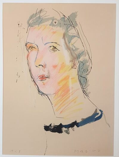 """Marino Marini, 'Portrait of Mary - From """"A Suite of Sixty-three Re-creations of Drawings and Sketches in Many Mediums"""" ', 1968"""