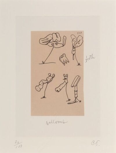 Claes Oldenburg, 'Untitled, from Notes in Hand', 1972