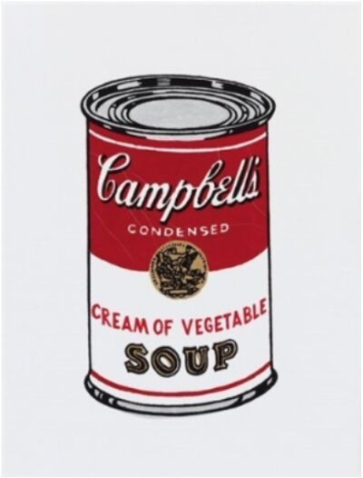 Richard Pettibone, 'Andy Warhol, Campbell cream of vegetable soup, 1962', 1987