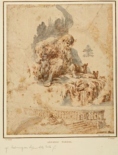 Antonio de Pereda, 'Der Künstler vor Gianbolognas Appennino', 1665-1678?