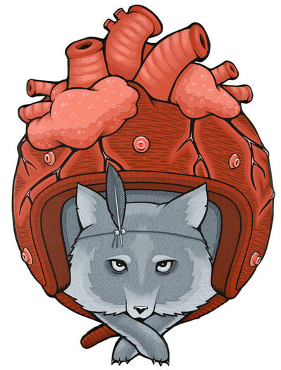 Jeremy Fish, 'Heart Helemt', 2015