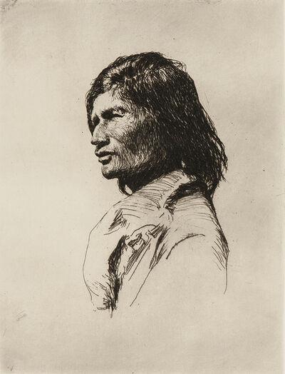 Frank Weston Benson, 'Nascaupée Indian', 1921
