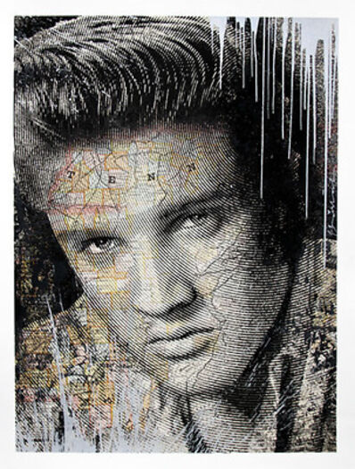 Mr. Brainwash, 'King of Rock (Silver)', 2017
