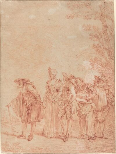 Jean-Antoine Watteau, 'The Wedding Procession', ca. 1712