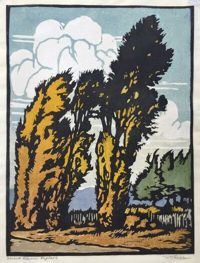 William S. Rice, '           WIND BLOWN POPLARS ', ca. 1915