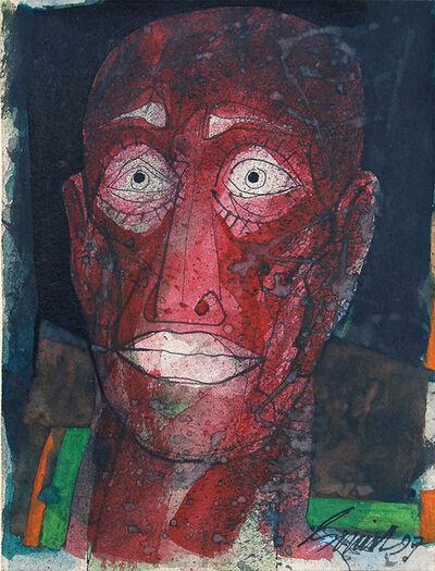 "Sunil Das, 'Head Series IV, Mixed Media on Board by Padmashree Artist Sunil Das ""In Stock""', 1997"