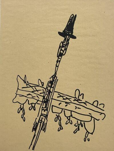Walter Dahn, 'Beuys und die letzte Eiche', 1985