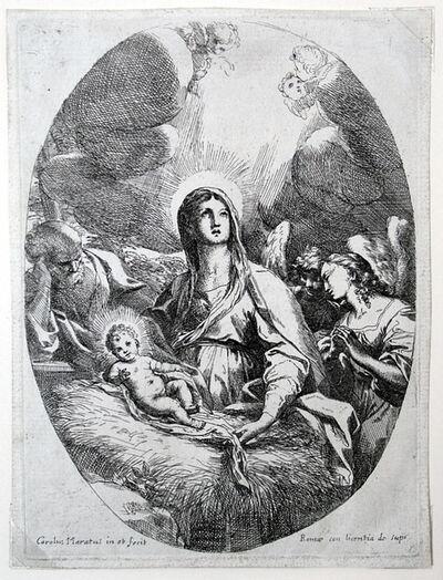 Carlo Maratti, 'Virgin, Child and Joseph in Oval', ca. 1650