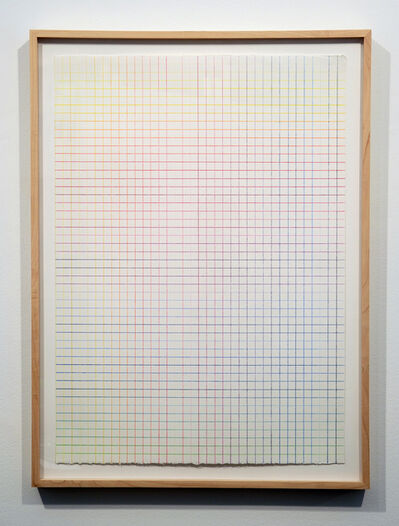 Hartmut Böhm, 'ColorClimate:36VerticalLines, 50HorizontalLines', 1997
