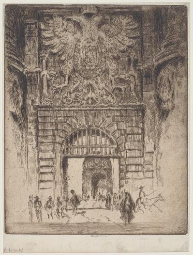 Joseph Pennell, 'Puerta Visagara, Gate of Madrid, Toledo', 1904