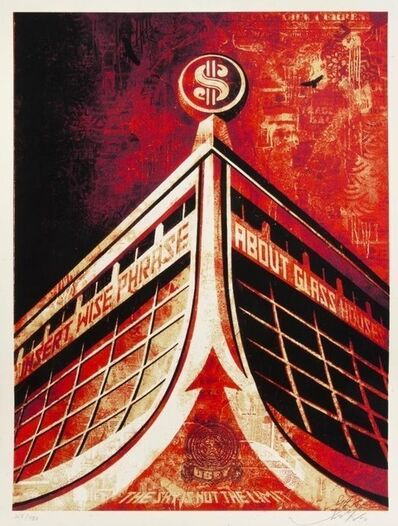 Shepard Fairey (OBEY), 'glass house', 2010