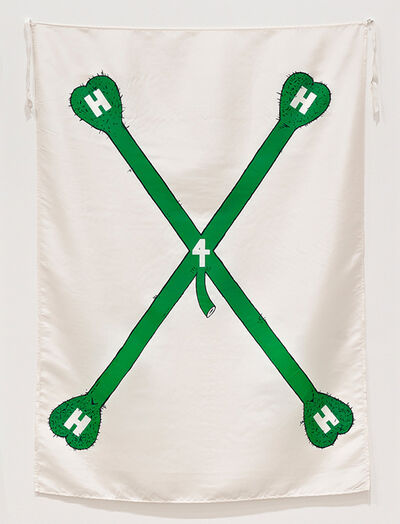 Mike Kelley, 'Hangin'-Heavy-Hairy-Horny', 1989