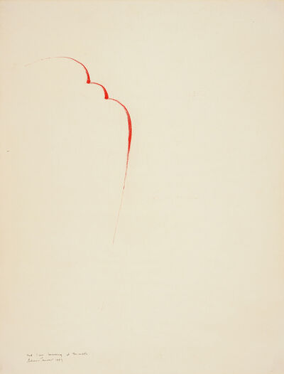 Edwin Tanner, 'Red Line Bouncing at the Middle', 1967