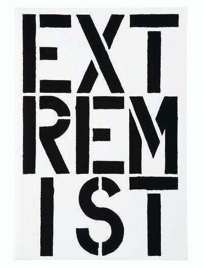 Christopher Wool, 'Extremist (Black Book)', 1989