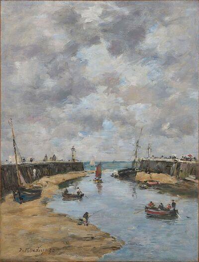Eugène Boudin, 'Trouville, les jetées, marée basse', 1890