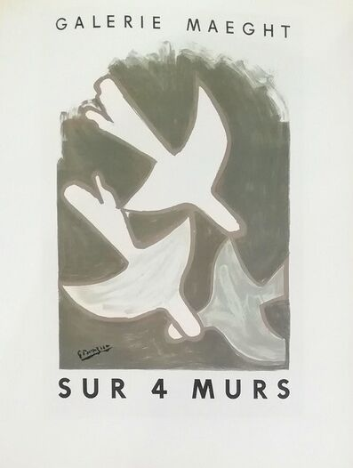 Georges Braque, 'Sur 4 Murs (Flying Doves)', 1959