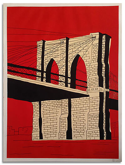 Marz Junior, 'Red Brooklyn Bridge ', 2019