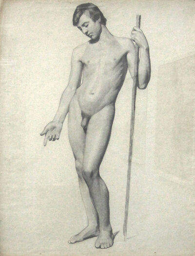 Charles Nègre, 'Figure Drawing of a Man', 1842c/1842c