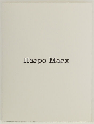 Simon Patterson, 'Harpo Marx', 2018