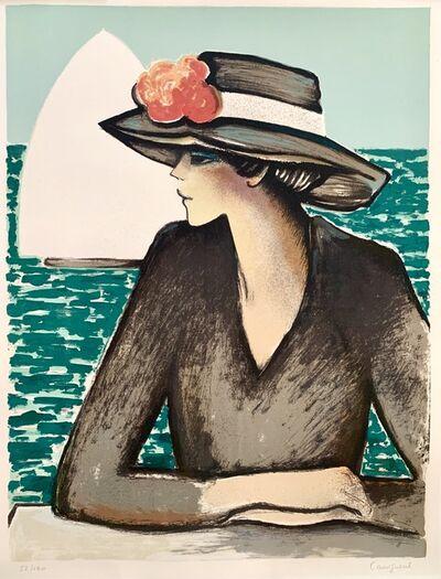 Jean-Pierre Cassigneul, 'Jeune femme au Chapeau', 1975