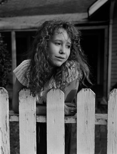 Mark Steinmetz, 'Maia, Knoxville, TN (woman at fence)', 1991