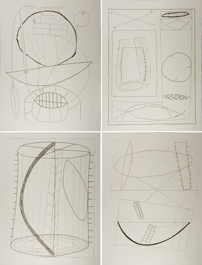 Jürgen Partenheimer, 'The San Francisco Etchings: Ship of Fools', 1984