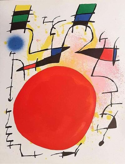 Joan Miró, 'Mirò Lithographe I - Plate III - 1972', 1972