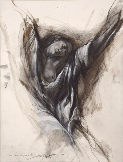 Ernest Pignon-Ernest, 'Le extases - Etude pour Angèle de Foligno', 2008
