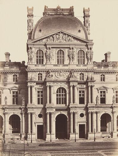 Édouard Baldus, 'Au Louvre, Pavillon Richelieu, Paris', 1856
