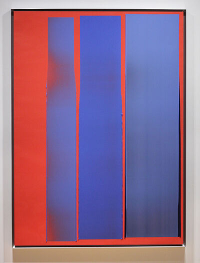 Jonathan Forrest, 'Three Cool Blues on a Hot Red Ground', 2020