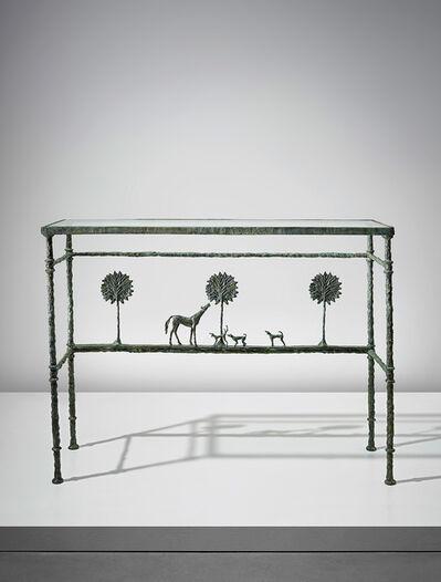 Diego Giacometti, ''La promenade des amis' console', conceived and executed circa 1976