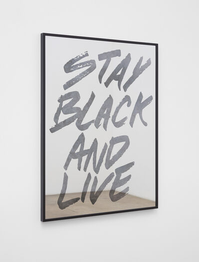 Hank Willis Thomas, 'Stay Black and Live (silver and black)', 2019