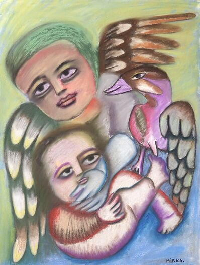 Mirka Mora, 'Angels Have Family Too', ca. 1975