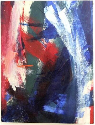 Seymour Franks, 'Abstract Expressionist Painting 'The Crimson Flare' 1961', 1960-1969