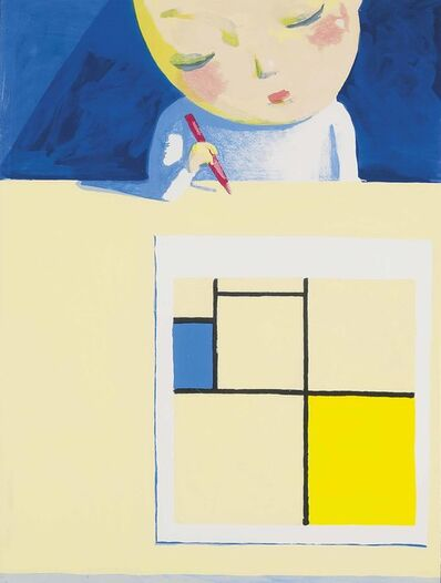 Liu Ye 刘野, 'She and Mondrian', 2001