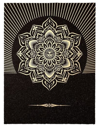 Shepard Fairey, 'Obey Lotus Diamond (Black and Gold)', 2013